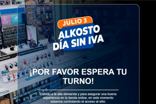 Se cayó plataforma digital de Alkosto por alta demanda en día sin IVA, usuarios hacían filas de horas