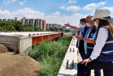 Retoman labores de construcción de puente vehicular que conectará a Valle del Lili con Bochalema
