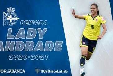 Colombiana Lady Andrade es nueva jugadora del Deportivo La Coruña