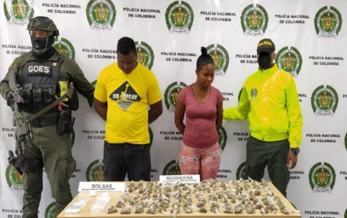 A la cárcel pareja presunta responsable de comercialización de estupefacientes en Buenaventura