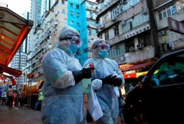 Tercera oleada de contagios de COVID-19 dispara temores en Hong Kong