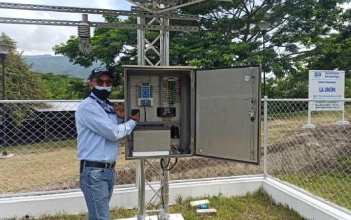 Unión, Valle inauguró una estación hidroclimatológica de última generación