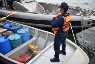 En el Pacífico se han incautado más de 104 toneladas de narcóticos en el 2020