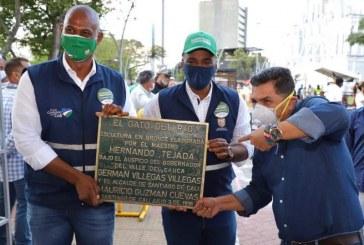 Autoridades de Cali recuperan la placa del emblemático Gato de Tejada