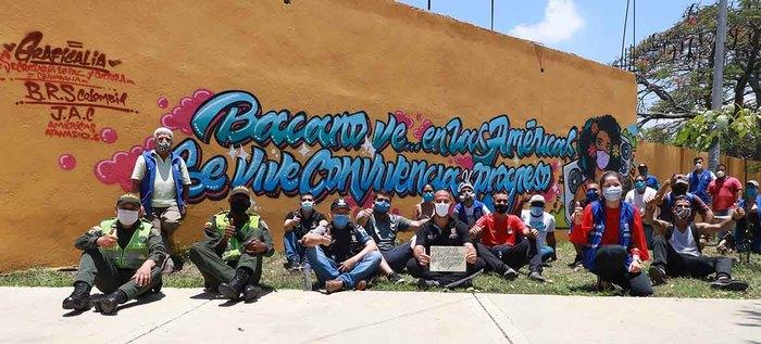 Con arte urbano, hubo una reconciliación entre residentes y miembros de Barón Rojo Sur de la Comuna 8 de Cali