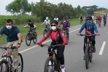 Ciclorruta Cali- Palmira es activada hoy por cientos de ciclistas