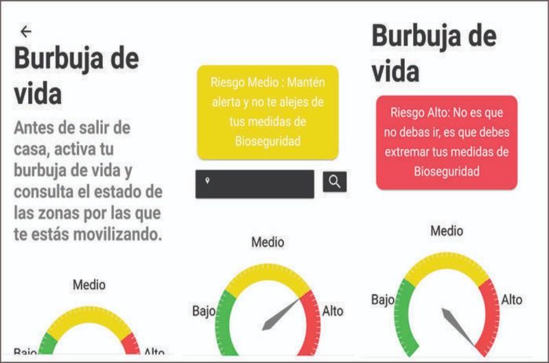 """""""Burbuja de Vida"""": la herramienta digital que indica el riesgo de covid- 19 en Valle"""