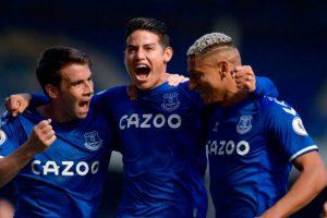 James Rodríguez es incluido nuevamente en el once ideal de la Premier League