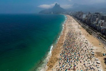 Playas de Río de Janeiro registran aglomeraciones en medio de desescalada