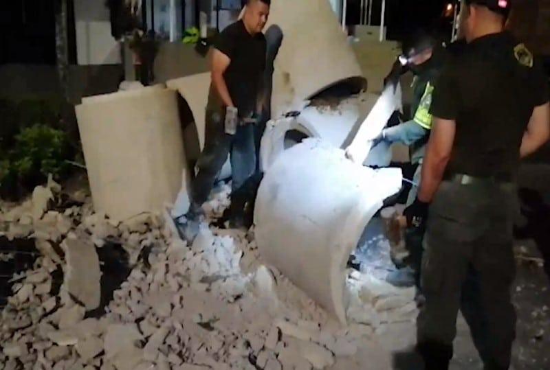 Incautaron 624 paquetes de cocaína fundida en una volqueta en Tuluá
