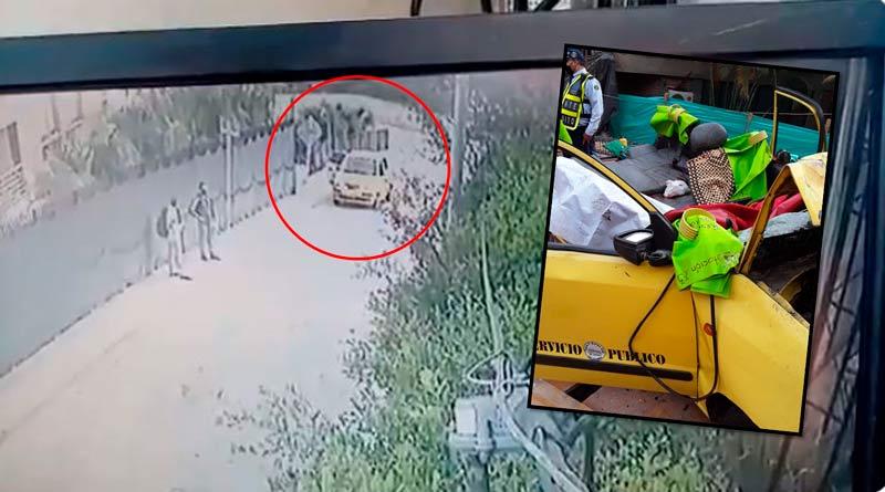 Revelan video del momento en que taxi cae a un abismo de 20 metros en Cali