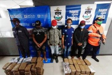 Caen cuatro extranjeros que transportaban 100 kilos de marihuana en el Pacífico