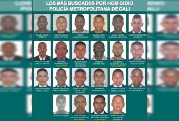 Presentan cartel de los 22 delincuentes más buscados de Cali