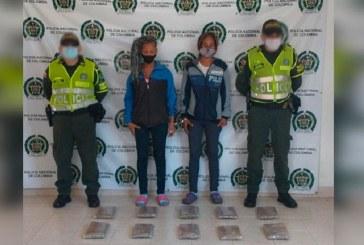 A la cárcel presuntas transportadoras de más de 10 mil gramos de marihuana