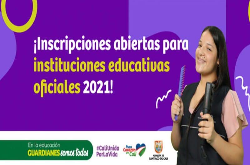 ¡Abiertas las inscripciones en las Instituciones Educativas Oficiales de Cali en el 2021!