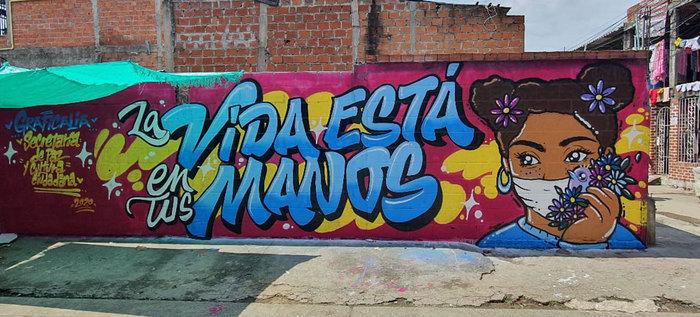 Festival de arte: siete artistas pintan los murales de la caleñidad