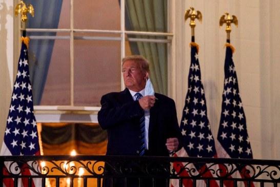 Trump regresó a la Casa Blanca pese a no estar fuera de peligro por covid-19