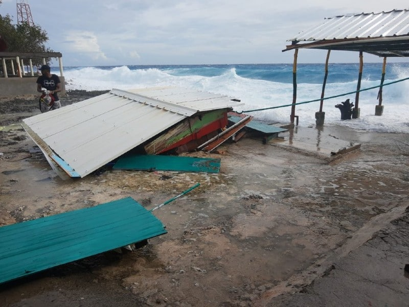 El presidente Iván Duque visitó la Isla de San Andrés tras el huracán Eta