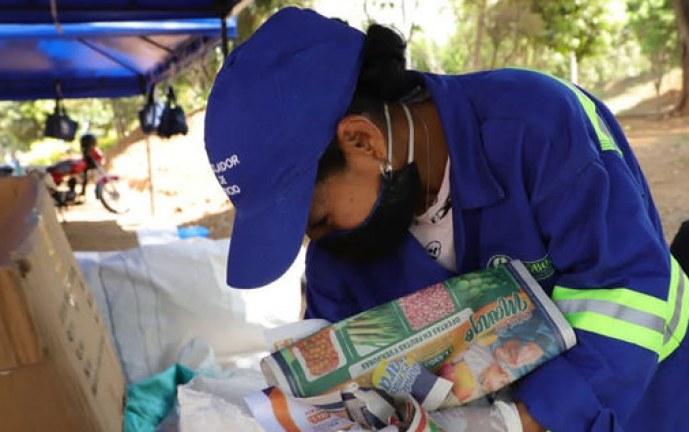 En el barrio Brisas de los Álamos, se realizó primera jornada de 'Reciclatón'
