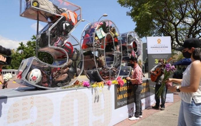 Conmemoración del 'Día Mundial de las Víctimas en Siniestros Viales', en Cali