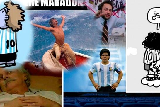 Los mejores MEMES en honor a Maradona
