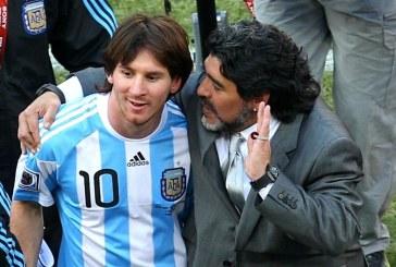 """""""Nos deja pero no se va, porque el Diego es eterno"""": Messi"""