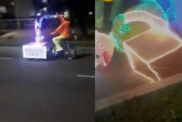 Joven fue arrollado por triciclo del alumbrado móvil