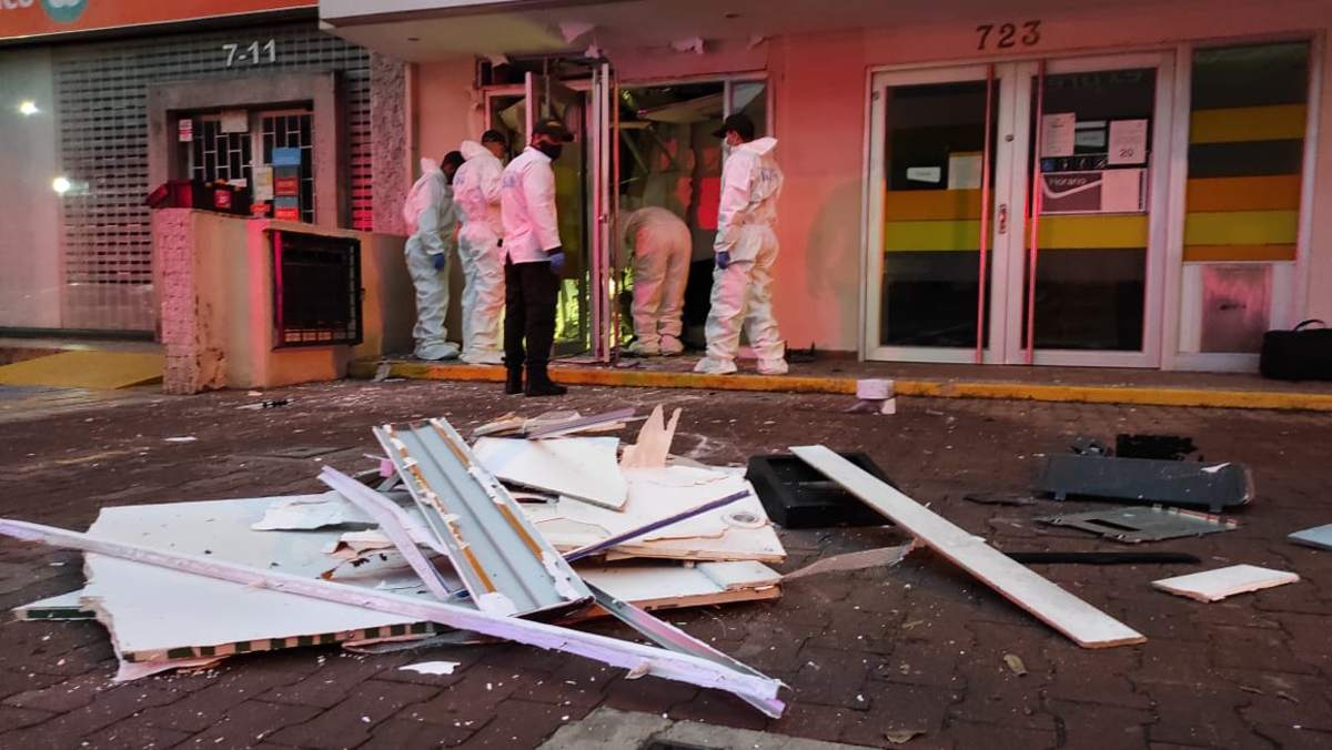 Cajero del oeste de Cali fue estallado con explosivos para robar el dinero