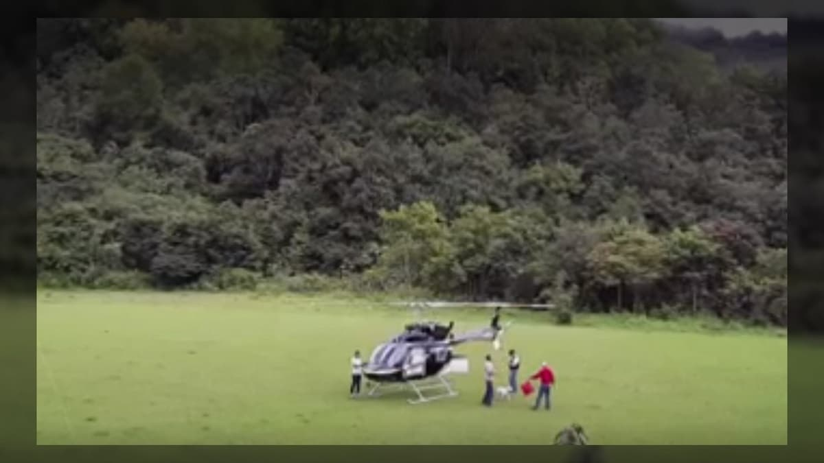 Delincuentes robaron un helicóptero que transportaba alt=