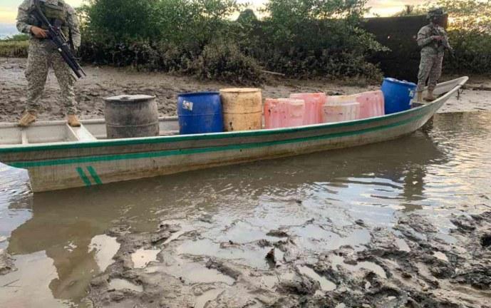 Destruyen centro de acopio para el envío de narcotráfico en Chocó