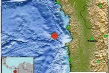¡Temblor en Chocó! se registró sismo de magnitud 4.8