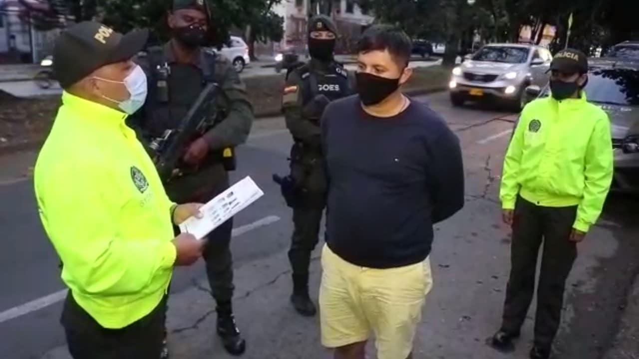 Policía capturó en Cali a 'Chumado', uno de los diez más buscados de Ecuador