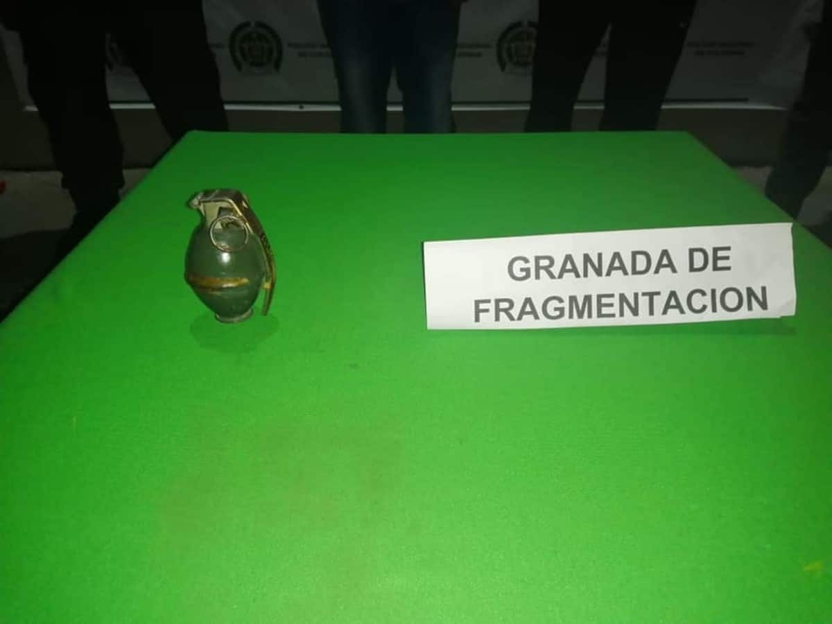 A la cárcel hombre que portaba una granada en Tuluá Valle