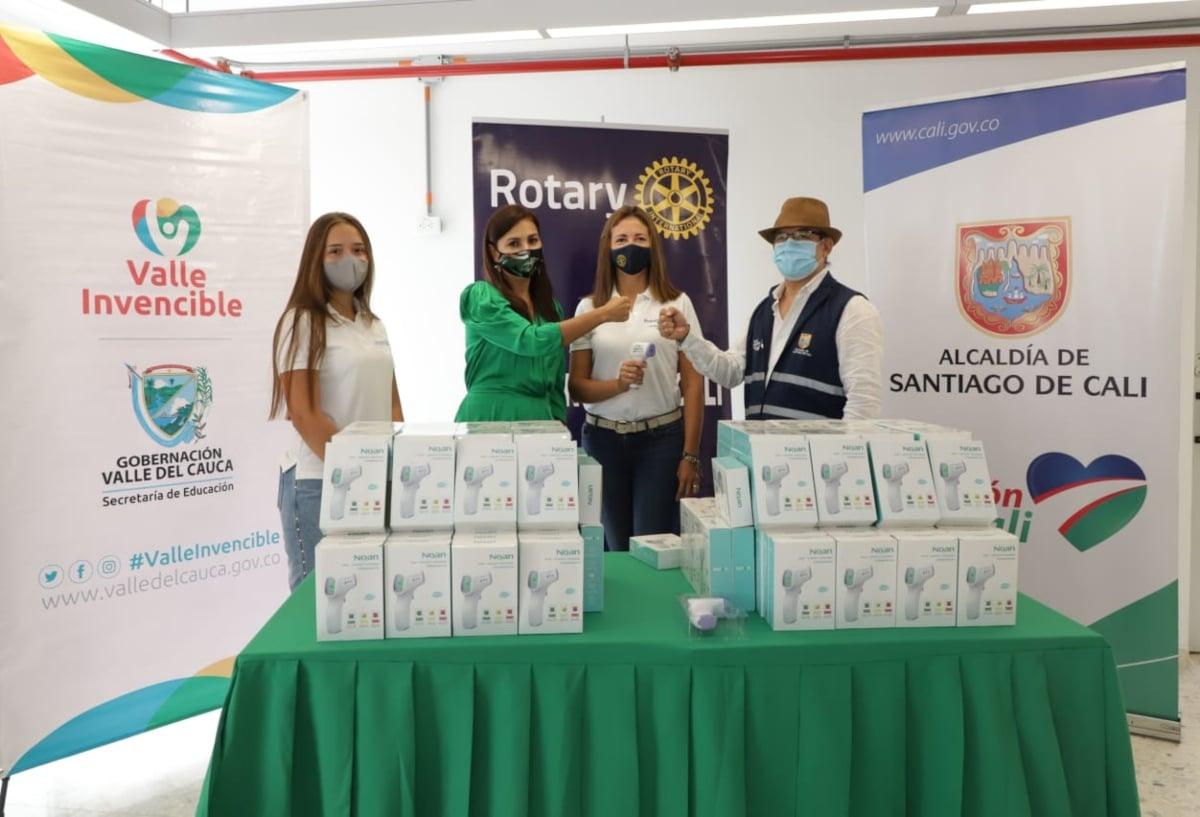 Gobierno del Valle recibió 360 termómetros del Club Rotario de Cali