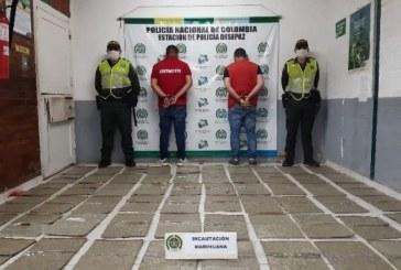Capturan en Cali a hombres que transportaban 60 paquetes de marihuana