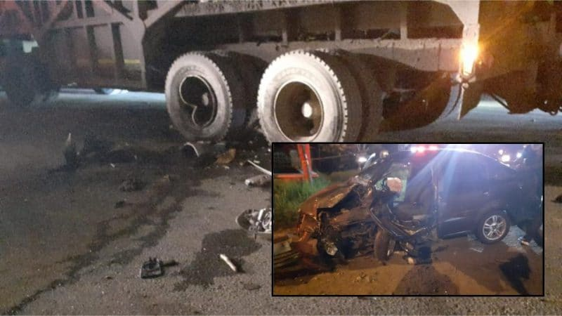 Dos hombres heridos tras aparatoso accidente entre automóviles y tren cañero en vía a Palmira