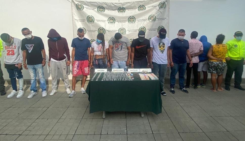 Cárcel a 12 presuntos integrantes de 'Los Peligrosos' en Cali