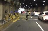 Túnel Mundialista será intervenido tras colisión de volqueta