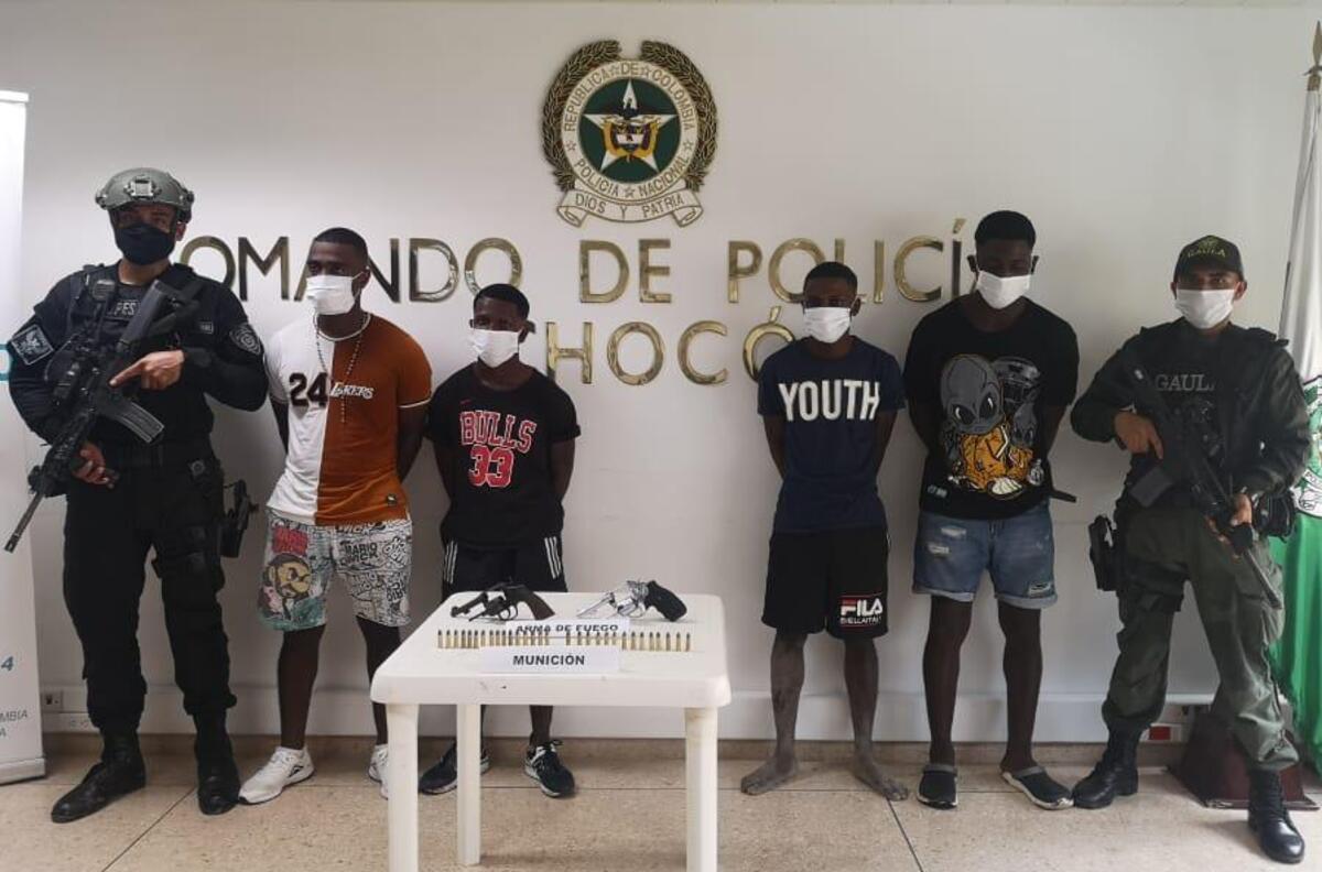 Envían a prisión a 4 presuntos secuestradores de un rapimotero de Chocó