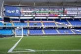 Ultiman detalles en el estadio Pascual Guerrero para próximos encuentros deportivos