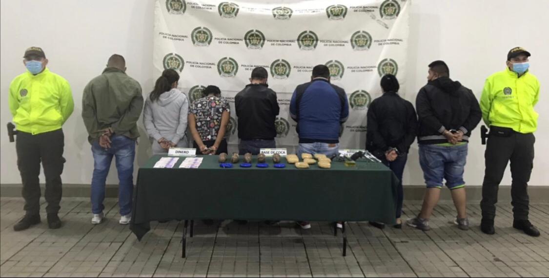 Caen 10 miembros de banda 'La Cinta' dedicados a la venta de droga en Cali