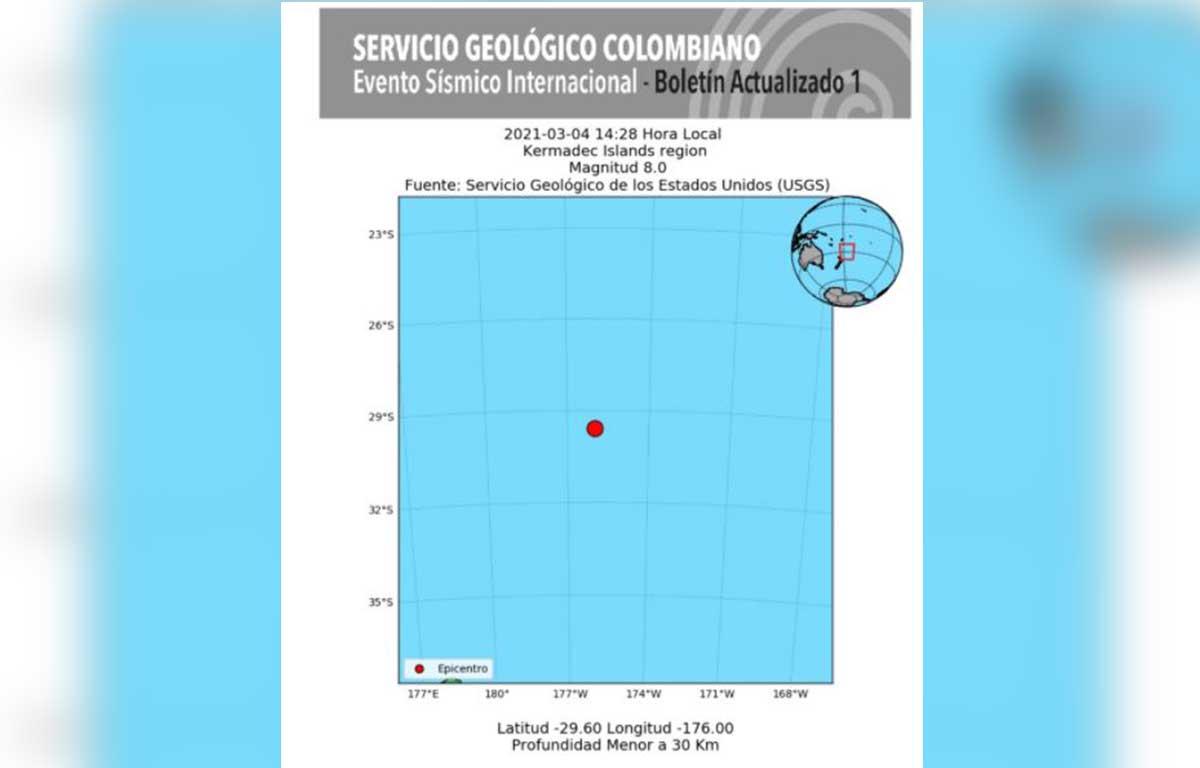 Alerta de tsunami en Nueva Zelanda por sismo de magnitud 8.0