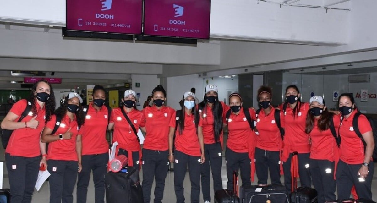 América de Cali ya está en Argentina para jugar la Copa Libertadores Femenina