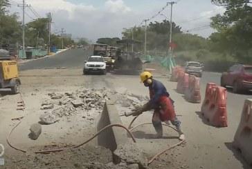 Aplazan entrega: cada vez más lejana culminación de puente sobre río Lili