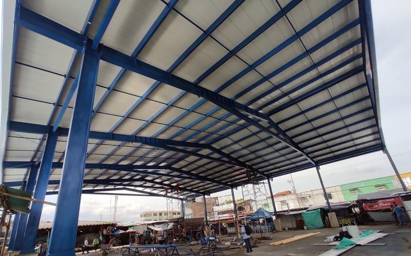 Gobernación del Valle entregó techo de la plaza de mercado de Jamundí