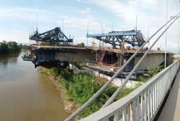 Así avanza la construcción del nuevo puente de Juanchito