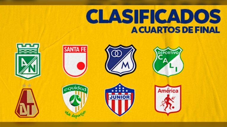 Conozca cómo quedaron conformadas las llaves en las que jugarán los 8 equipos clasificados a cuartos de final de la Liga BetPlay.