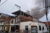 Bomberos atendieron fuerte incendio en el barrio Primitivo Crespo de Cali