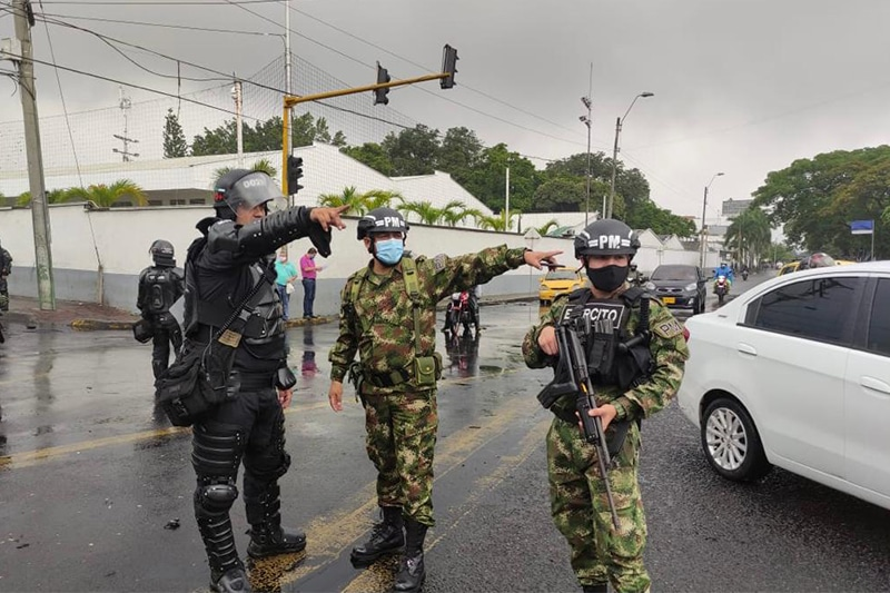 Por dictamen del Gobierno, habrá control militar en Cali y el Valle