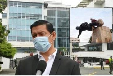 """""""Restauración de la estatua se hará lo más pronto posible"""": secretario de Seguridad"""